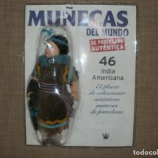 Muñecas Modernas: MUÑECAS DEL MUNDO DE AUTENTICA PORCELANA RBA INDIA AMERICANA 46. Lote 150541290