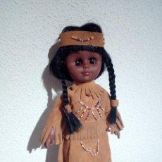 Muñecas Modernas: MUÑECA OJOS DURMIENTES, INDIGENA,INDIA PORTANDO BEBE.. Lote 151165750
