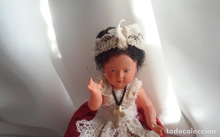 Muñecas Modernas: Curiosa y bonita muñeca de celuloide con traje regional - Foto 2 - 151192258