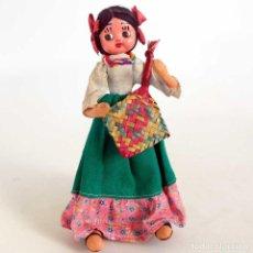 Muñecas Modernas: MUÑECA MEXICANA DE TELA 24CM.. Lote 155093998