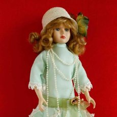 Muñecas Modernas: MUÑECA ANTIGUA DE PORCELANA FRANCESA. VESTIDO BELLE EPOQUE. 45CM.. Lote 155192366