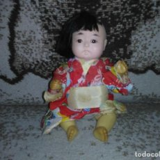 Muñecas Modernas: ANTIGUA MUÑECA ORIENTAL AÑOS 60 COMPOSICIÓN CARTÓN PIEDRA VINTAGE CDPM. Lote 155412538
