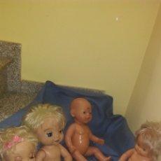 Muñecas Modernas: LOTE DE MUÑECOS CON DEFECTOS BABY ALIVE, NENUCA, BABY BORN, ROLY JESMAR. Lote 186460890
