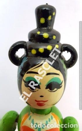 Muñecas Modernas: MUÑECA DE MADERA ARTICULADA - Foto 6 - 164957546