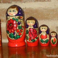 Muñecas Modernas: MATRIOSKA,MUÑECA RUSA DE MADERA PINTADA A MANO.. Lote 171351604