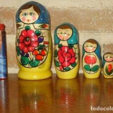 Muñecas Modernas: MATRIOSKA,MUÑECA RUSA DE MADERA PINTADA A MANO.. Lote 171353013