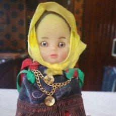 Muñecas Modernas: MUÑECA REGUIONAL RUSA CARA DE GOMA CUERPO DE PLASTICO. Lote 172788894