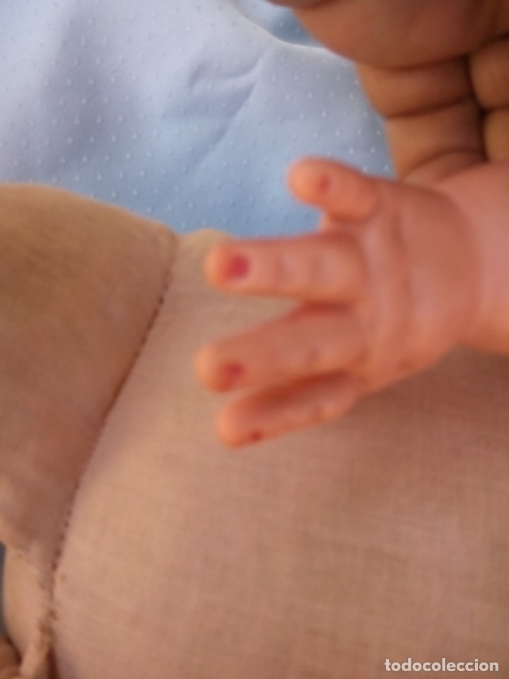 Muñecas Modernas: antigua muñeca marcada italia rellena de serrín probablemente de sebino de 45 cm - Foto 4 - 175802665