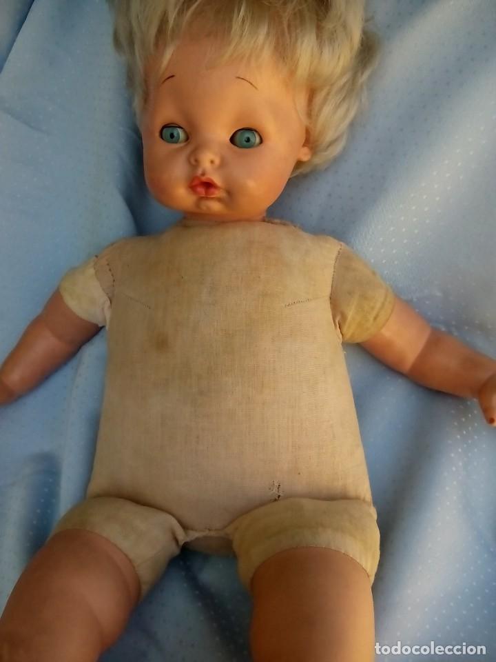 Muñecas Modernas: antigua muñeca marcada italia rellena de serrín probablemente de sebino de 45 cm - Foto 8 - 175802665