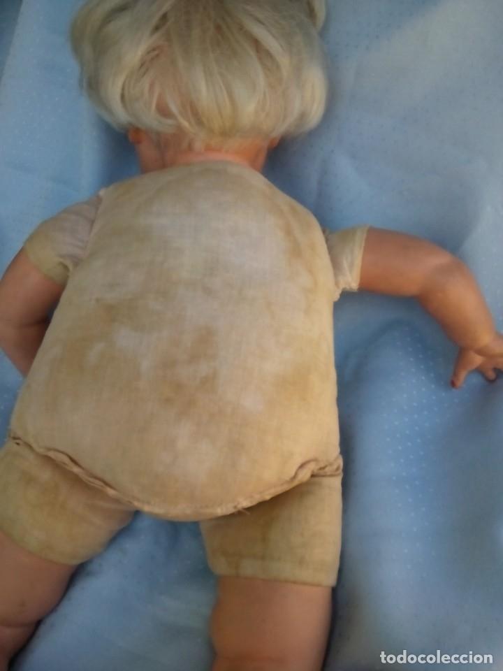 Muñecas Modernas: antigua muñeca marcada italia rellena de serrín probablemente de sebino de 45 cm - Foto 9 - 175802665