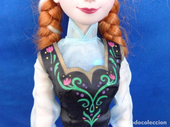 Muñecas Modernas: DISNEY - BONITA MUÑECA FORZEN ANNA, TAMAÑO GRANDE MIDE UNOS 40 CM, FUNCIONA! SM - Foto 10 - 184661190