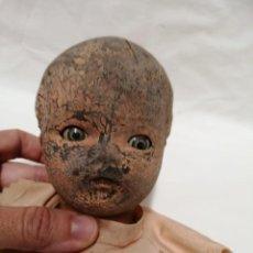Muñecas Modernas: CABEZA MUÑECA ANTIGUA. Lote 187123787