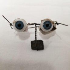 Muñecas Modernas: OJOS DE CRISTAL MUÑECA ANTIGUA. Lote 187123885