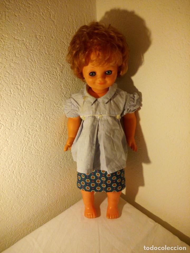 Muñecas Modernas: Muñeca pecosa y sonriente, sebino made in italy. 80 cm,años 70 - Foto 2 - 188452920