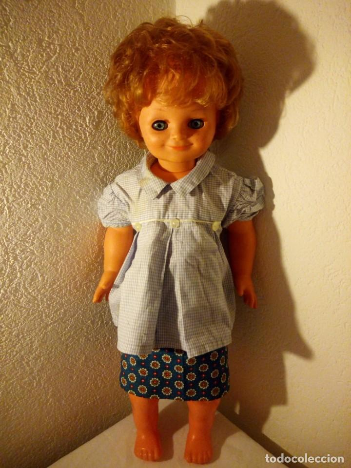 Muñecas Modernas: Muñeca pecosa y sonriente, sebino made in italy. 80 cm,años 70 - Foto 3 - 188452920