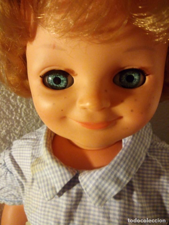 Muñecas Modernas: Muñeca pecosa y sonriente, sebino made in italy. 80 cm,años 70 - Foto 4 - 188452920