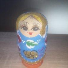 Muñecas Modernas: PRECIOSA MUÑECA MATRIOSHKA PINTADA A MANO ,AÑOS 80. Lote 190482121