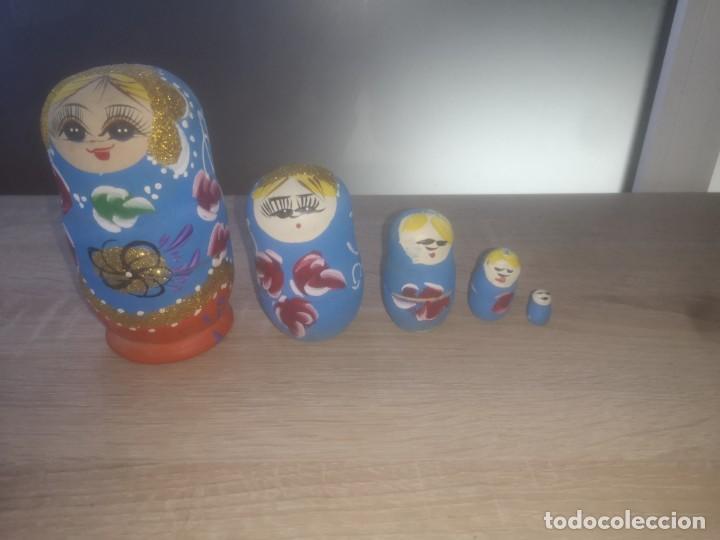Muñecas Modernas: Preciosa muñeca Matrioshka pintada a mano ,años 80 - Foto 8 - 190482121