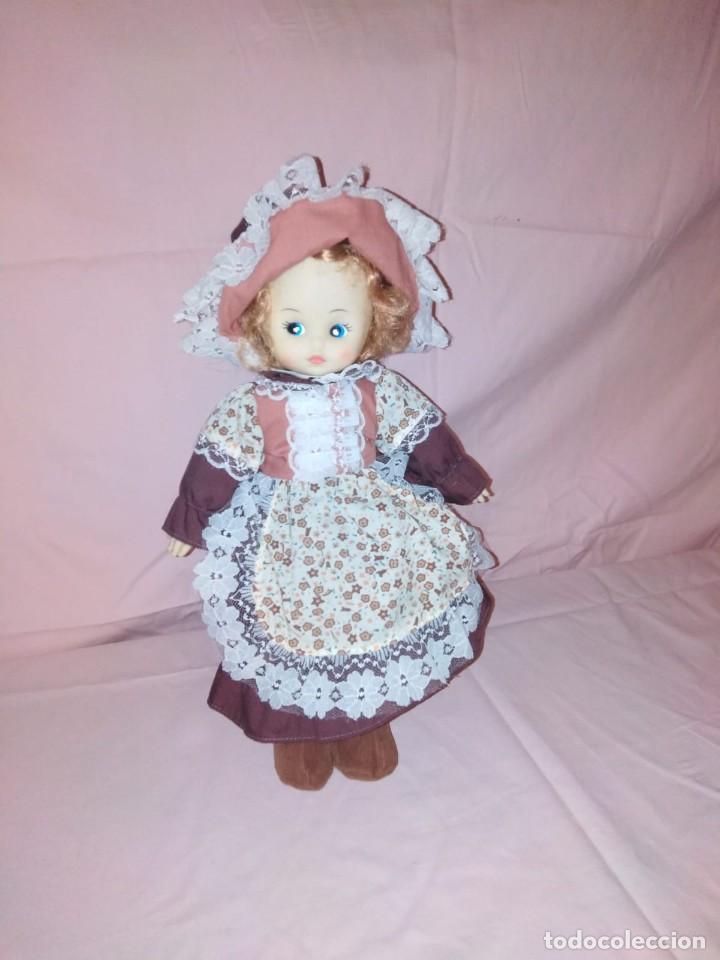 Muñecas Modernas: Antigua Muñeca carita y manos de goma y cuerpo de relleno. - Foto 5 - 191004898