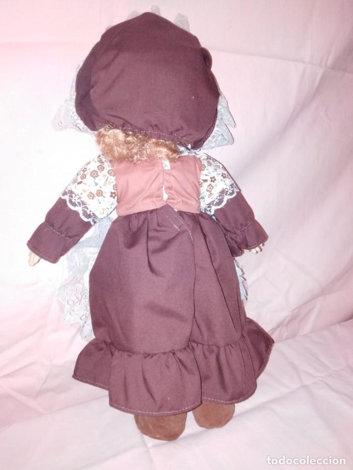 Muñecas Modernas: Antigua Muñeca carita y manos de goma y cuerpo de relleno. - Foto 4 - 191004898