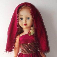 Muñecas Modernas: MUÑECA DE LOS AÑOS 60, POSIBLEMENTE RUSA, 58 CM DE ALTO. ESTIMACIÓN 100 EUROS. Lote 193398360