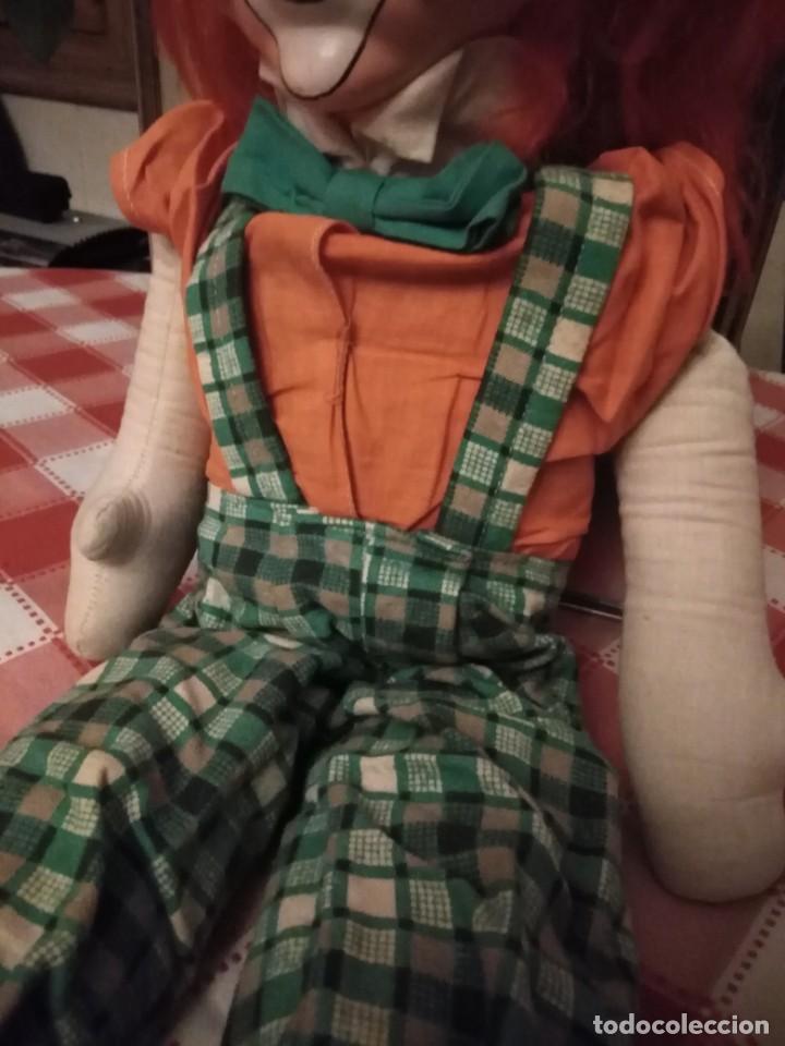 Muñecas Modernas: Payaso con cara de vinilo relleno de trapo. - Foto 3 - 193963876