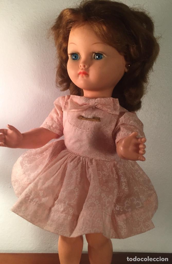 Muñecas Modernas: Preciosa muñeca Bella años cincuenta marcada vestido calzado aguja marcado todo original , preciosa - Foto 4 - 194135151