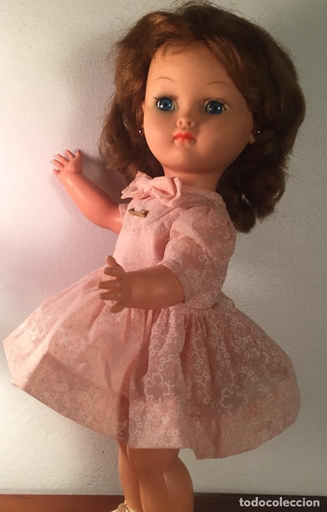 Muñecas Modernas: Preciosa muñeca Bella años cincuenta marcada vestido calzado aguja marcado todo original , preciosa - Foto 5 - 194135151