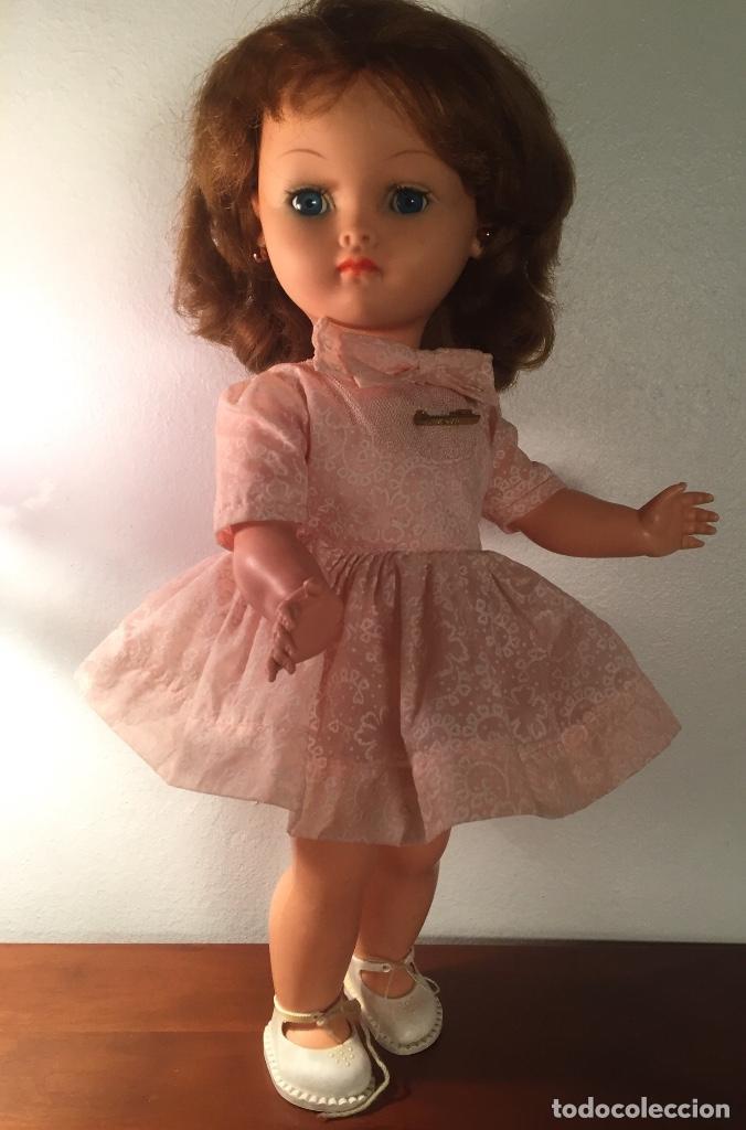 Muñecas Modernas: Preciosa muñeca Bella años cincuenta marcada vestido calzado aguja marcado todo original , preciosa - Foto 9 - 194135151