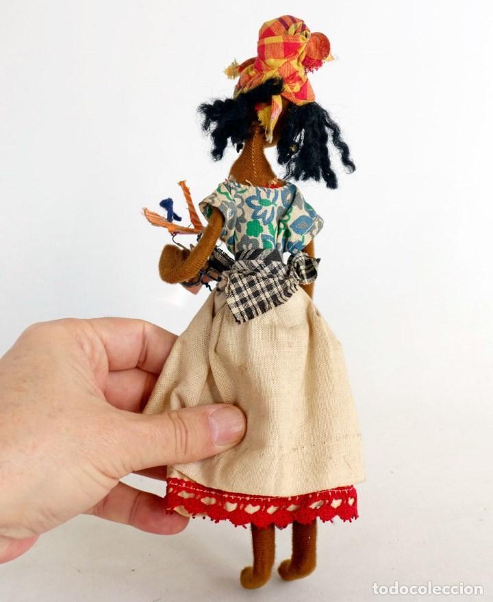 Muñecas Modernas: MUÑECA DE TRAPO ARTESANAL ETNICA 24cm. - Foto 3 - 194363490