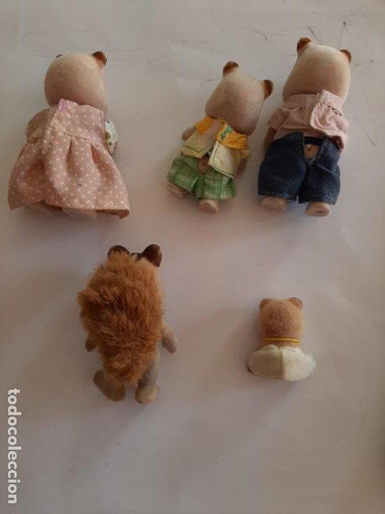 Muñecas Modernas: Sylvanian Families, lote de figuras Familia Hamster más bebe oso y ardilla - Foto 2 - 195383823