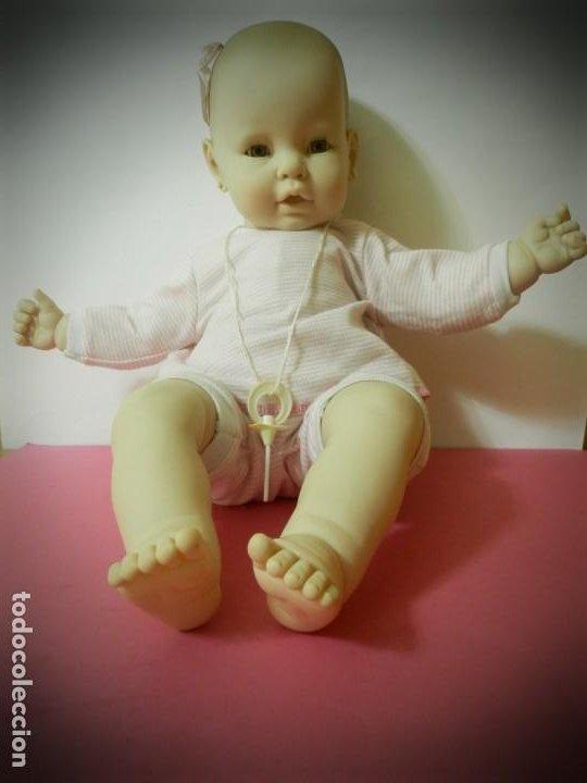 MUÑECA BEBE MARCA B.B PEPON TAMAÑO REAL 64 CENTIMETROS. ROPA ORIGINAL. CHUPETE Y PENDIENTES (Juguetes - Muñeca Extranjera Moderna - Otras Muñecas)