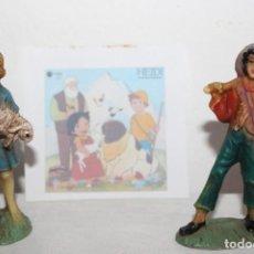 Muñecas Modernas: HEIDI Y PEDRO PEQUEÑAS MUÑECAS DE PLÁSTICO. Lote 198503837