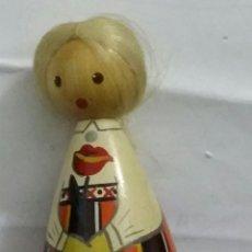 Muñecas Modernas: MUÑECA DE MADERA MARCA SALVO. DE ESTONIA DE LA ANTIGUA URSS. PINTADA A MANO.VINTAGE. Lote 199634222