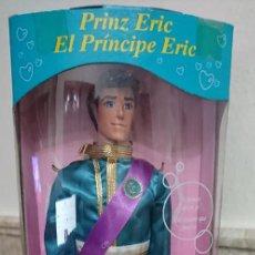 Muñecas Modernas: JOYA UNICA COLECCIONISTAS MUÑECO PRINCIPE ERIC NOVIO DE ARIEL LA SIRENITA TYCO 1992 NUEVO DISNEY. Lote 199752183