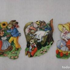 Muñecas Modernas: MUÑEQUITAS CORTADAS DE PAPEL - AÑOS 60. Lote 202830247