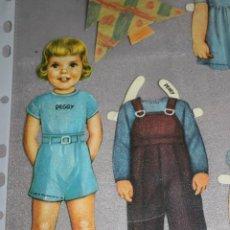 Muñecas Modernas: MUÑECA PEGGY DE PAPEL/CARTON Y SUS 7 VESTIDOS - B.SHACKMAN & CO., INC. 1986. Lote 203925307