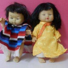 Muñecas Modernas: MUÑECA Y MUÑECO CON RASGOS ORIENTALES. Lote 204468281