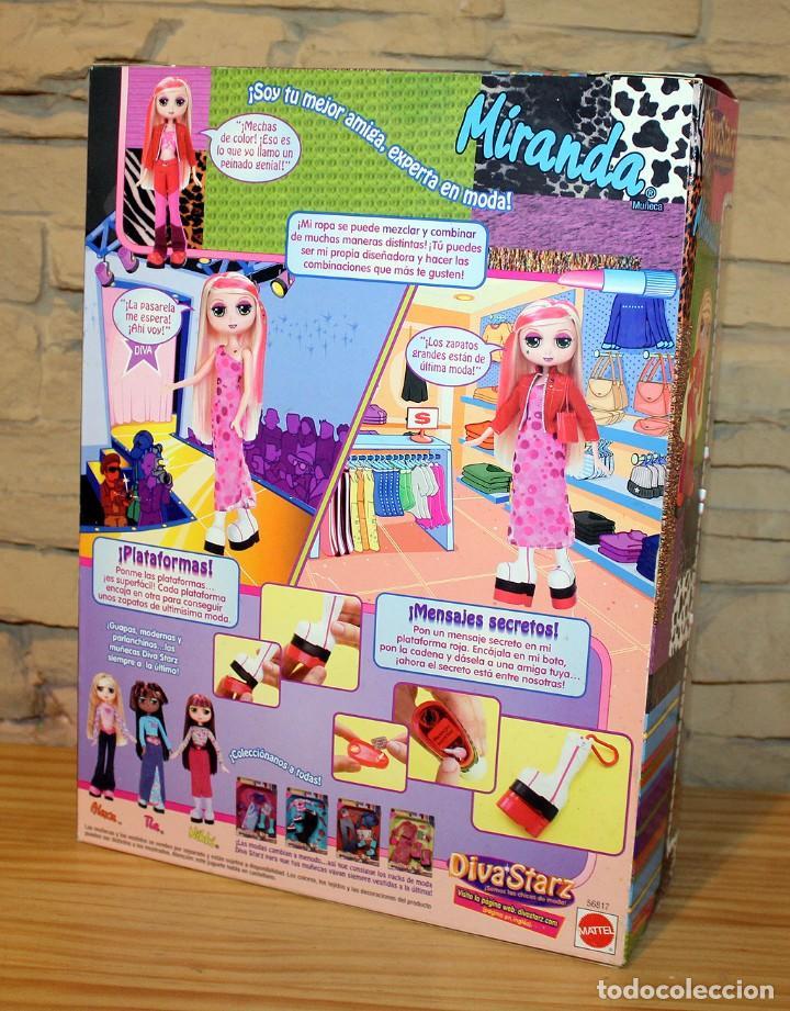 Muñecas Modernas: MIRANDA - DIVASTARZ - MATTEL - AÑO 2002 - DESCATALOGADA - NUEVA A ESTRENAR, EN SU CAJA - Foto 4 - 206346191