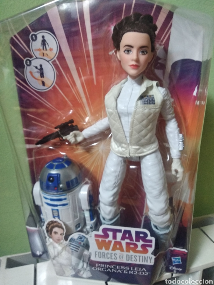 Muñeca Leia Organa + R2D2 segunda mano