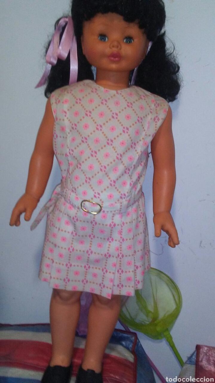 Muñecas Modernas: Muñeca de gran tamaño marca Furga ,años 60,mide sobre 80 centim ,muy bien conservada . - Foto 4 - 208590213