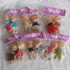Muñecas Modernas: 12 MUÑEQUITAS MEI LI DE ELIANA EN BOLSAS. Lote 209629780