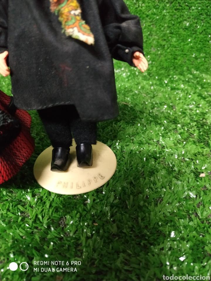 Muñecas Modernas: Pareja 2 Antiguas muñecas Francesas traje regional marca Philippe celuloide años 60 - Foto 4 - 210431782
