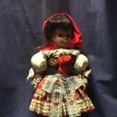 Muñecas Modernas: MUÑECA RUSA TRAJE TRADICIONAL ETIQUETA LIDOVA TVOBRA UH. BROD DORMILONA AÑOS 60 43X22CMS. Lote 210699016