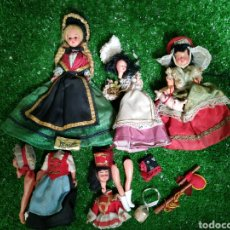 Muñecas Modernas: DESGUACE 5 MUÑECAS ANTIGUAS EXTRANJERAS TRAJES TÍPICOS. Lote 211966555
