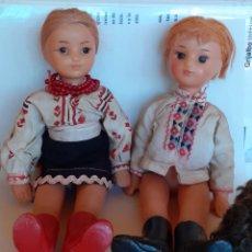 Muñecas Modernas: PAREJA DE MUÑECOS RUSOS PLÁSTICO DURO. Lote 212169585