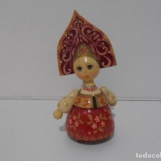 Muñecas Modernas: MUÑECA MADERA TRAJE TIPICO URSS, CCCP. Lote 212629836