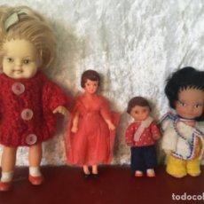 Muñecas Modernas: LOTE MUÑECAS ANTIGUAS PEQUEÑAS GOMA ARI. Lote 213945185