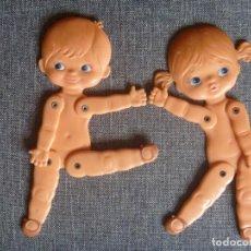 Muñecas Modernas: MUÑECA Y MUÑECO SEBINO ITALIANA AÑOS 60 PARA RECORTABLES ÚNICA EN TODOCOLECCIÓN OPORTUNIDAD. Lote 214336138
