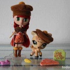 Muñecas Modernas: MINI BLYTHE LITTLEST PET SHOP CON TODOS SUS COMPLEMENTOS Y MASCOTA LPS HASBRO. Lote 218761455
